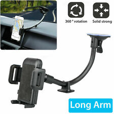 Universal Long Arm Car Phone Holder Windshield Dashboard Suction Mount Stand
