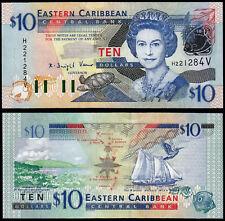 EAST CARIBBEAN STATES 10 DOLLARS (P43v) (2003) QEII ST. VINCENT UNC