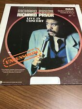 Vintage Richard Pryor Live In Concert, RCA, Select A Vision, Video Disc, Rare