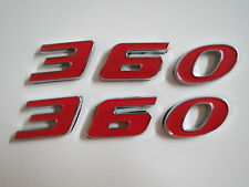 DODGE PLYMOUTH 360 ENGINE SIZE HOOD SCOOP FENDER TRUNK EMBLEMS - RED