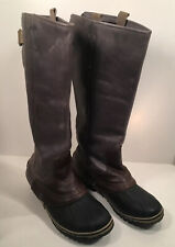 SOREL SLIMPACK TALL EQUESTRIAN 9.5 9 SHALE  GRAY Waterproof Riding Rain Boots