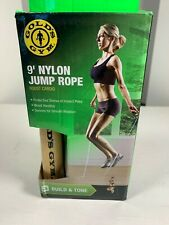 GOLD'S GYM 9' JUMP ROPE NEW Exercise Workout Training Build & Tone lose weight