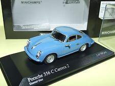 PORSCHE 356 CARRERA 2 1963-64 Bleu MINICHAMPS 1:43