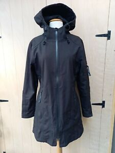 Ilse Jacobsen Hornbaek Black Raincoat 38 Size 12