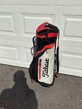 Titleist Lightweight Cart Bag Red Black & Gray with rainhood 7 way divider