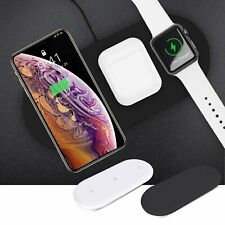 3in1 For Apple Watch iWatch Cell Phone Qi Wireless Charger Fast Charging Pad