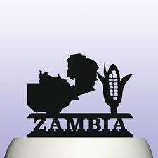 Acrylique Zambie pays carte et maïs Symbole Enfants éducation cake topper