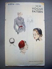1950's  Vogue Hat and gilet - bonnet vest  pattern 6894