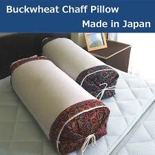 Japanese Buckwheat Chaff Pillow Navy Japan Adjustable Height