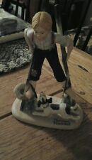"Norman Rockwell Porcelain Figurines by Danbury Mint ""Boy On Stilts"" 1980 Japan"