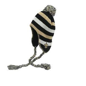 New Orleans Saints Official NFL Toddler (2-4T) OSFM Pom Winter Hat Cap Tassels