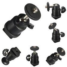 "1/4"" Black Ball Head Bracket/Holder/Mount For Camera Tripod Hot Shoe Adapter Hot"