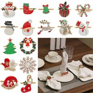 Claus Christmas Tree Table Decoration Napkin Ring Christmas Supplies Mouth Ring