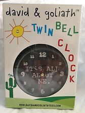 New David & Goliath Twin Bell Clock Black It's All About Me