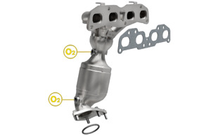 Magnaflow SS Pre-Catalytic Converter and Main Converter for Nissan 07-15