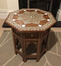 Handmade Indian Inlaid Octagonal Table Stunning Inlay Work