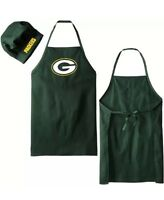 NFL Green bay Packers Barbecue Tailgating Apron And Chef's Hat