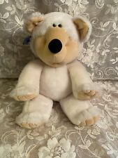 "Vintage Applause Stuffed Plush Bear 1984 White 12"" Linda Novick"