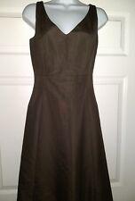 J. Crew Dress V Neck Sleeveless Brown Size 2 Cotton Classic Look Womens RN77368
