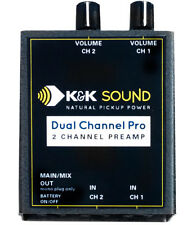 """K&K Sound Dual Channel Pro Two Channel Guitar Preamp, Dual 1/4"""" In, 1/4"""" Out"""