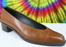 size 7 AA ladies brown leather AMALFI ITALY pumps shoes