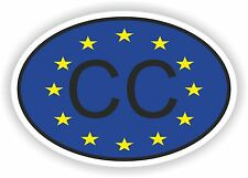 CC Consular Corps COUNTRY CODE OVAL WITH EUROPEAN UNION FLAG STICKER bumper