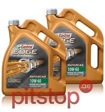 2x 5L = 10 Liter CASTROL EDGE TITANIUM FST SUPERCAR 10W-60 Motoröl Öl ACEA A3/B3