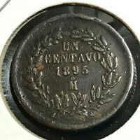 1893 MEXICO 1 CENTAVO LARGE PENNY COIN