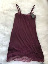 Implicite Maroon Lace Nightie Size S