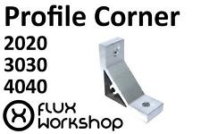 Corner Bracket Aluminium Profile Tnut Frame 2 3 40 CNC 3D Printer Flux Workshop