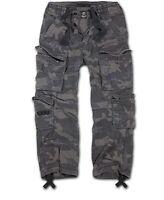 Brandit Pure Vintage Trouser Darkcamo Cargo Hose Outdoor Army Style Armeehose