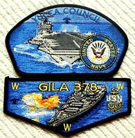 GILA OA LODGE 378 YUCCA COUNCIL TEXAS 66 78 TX UNITED STATES NAVY FLAP & CSP SET