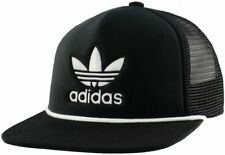 ADIDAS Originals Men's Trefoil Trucker Hat Snapback Black White