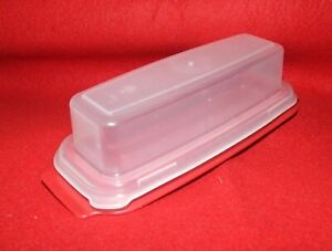 Rubbermaid Standard Butter Dish - Red Dish/Clear Lid