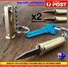 2 x Folding Bullet Knife key chain Bullet Knife Keyring key chain Knife S/Steel