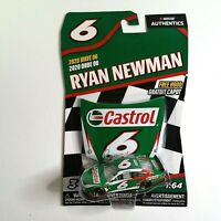 RYAN NEWMAN #6 NASCAR Authentics Castrol Ford Mustang 2020 Wave 6 1:64