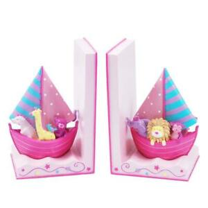 DREAM TIME BOOKENDS Sailing animals - PINK SWA619P Pink Poppy