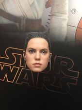 "Hot Toys Star Wars Force Awakens Rey 12"" Head Sculpt loose 1/6th scale"