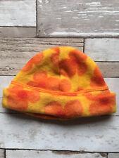 Baby Girl's Clothes 0-3 Months - BNWOT Orange Flower Detail Fleece Hat 🍓🍓🍓