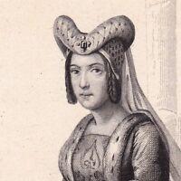 Portrait XIXe Anne de France Anne de Beaujeu Genappe Belgique 1846