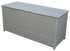 KMH® Polyrattan Kissentruhe grau 130 x 50 cm Auflagenbox Kissenbox Auflagentruhe