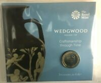2019 Wedgwood £2 Two Pounds Coin Brilliant Uncirculated Royal Mint Coin Pack