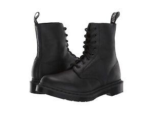 Women's Shoes Dr. Martens 1460 PASCAL MONO 8 Eye Leather Boots 24479001 BLACK
