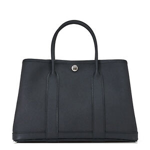 Hermes Black Epsom TPM Garden Party Rare Leather and Size
