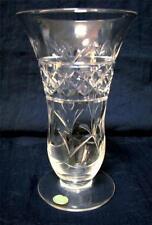 1 x vintage STUART hand cut crystal vase 15 cm
