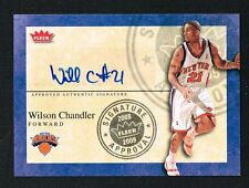 Wilson Chandler 2009 Fleer Signature Approval signed autograph Basketball Card