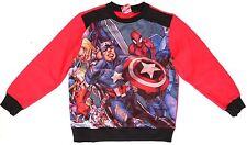 Marvel Super Heroes Kids Boys Black/Red Spider-Man Sweatshirt Sweater Size 5/6