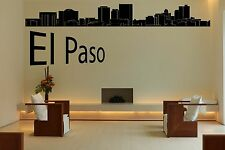 Wall Vinyl Sticker Decal Skyline Horizon Panorama City El Paso USA World F1738