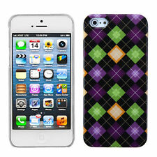 Apple iPhone 5 5S SE Ultra Slim HARD Phone Case Snap On BACK Cover Rhombic Plaid