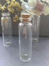 150x Miniature Glass Corked Vials Bottles 22x74mm Vase/Wedding/Jewellery/Invites